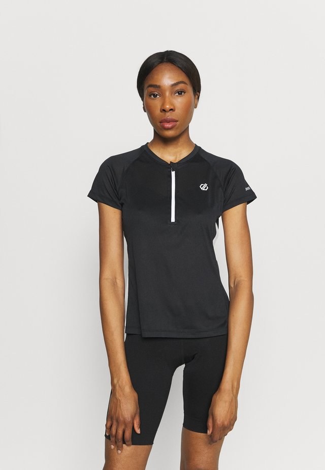 OUTDARE  - T-shirt imprimé - black/white