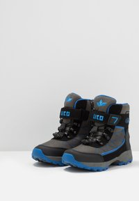 LICO - PELLE - Zimní obuv - grau/schwarz/blau - 3