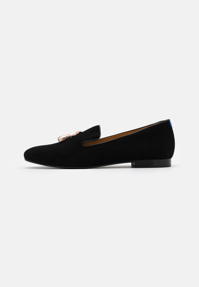 MATTEO - Slip-ons - black/rose gold