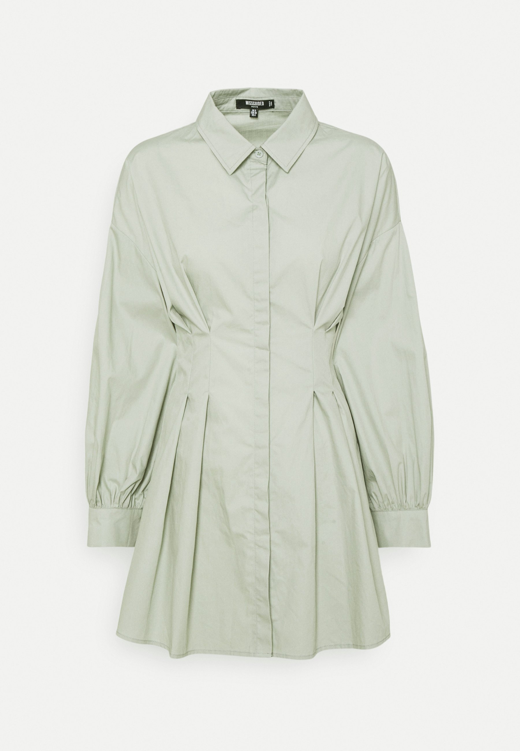 Mujer PLEATED WAIST SHIRT DRESS - Vestido camisero