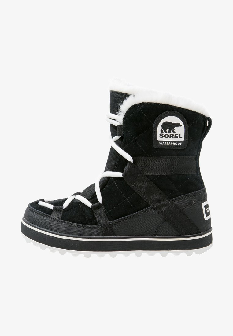 Sorel - GLACY EXPLORER SHORTIE - Winter boots - black