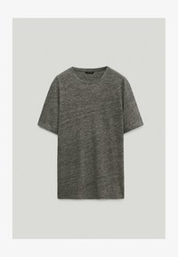 Massimo Dutti - T-Shirt basic - light grey - 0