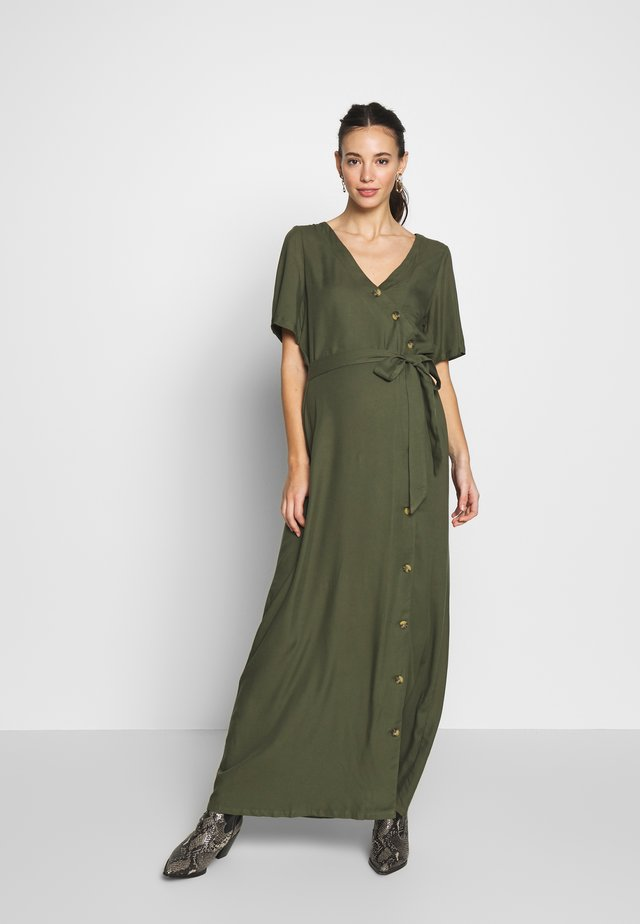 NURSING WITH BUTTONS ON FRONT - Maxi-jurk - khaky