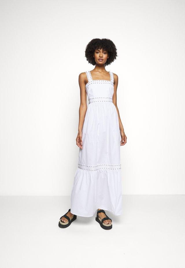 ABITO LUNGO IN POPELINE - Długa sukienka - bianco ottico