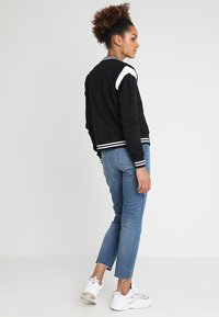 Urban Classics - LADIES INSET COLLEGE JACKET - Mikina na zip - black/white - 2
