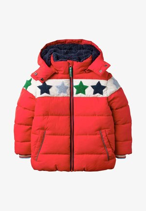 Winter jacket - rockabilly red bouclé