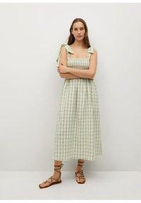 Mango - MED VICHY-RUTER - Day dress - havgrønn - 0