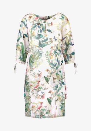 Day dress - off white ligh lime aloe druck