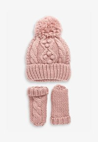 Next - CABLE  SET - Beanie - pink - 0
