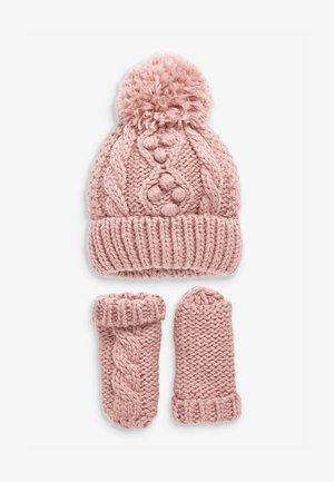 CABLE  SET - Beanie - pink