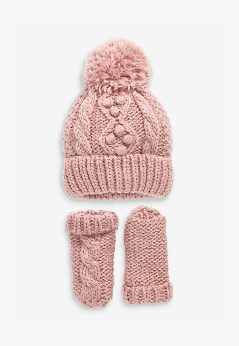 Next - CABLE  SET - Beanie - pink