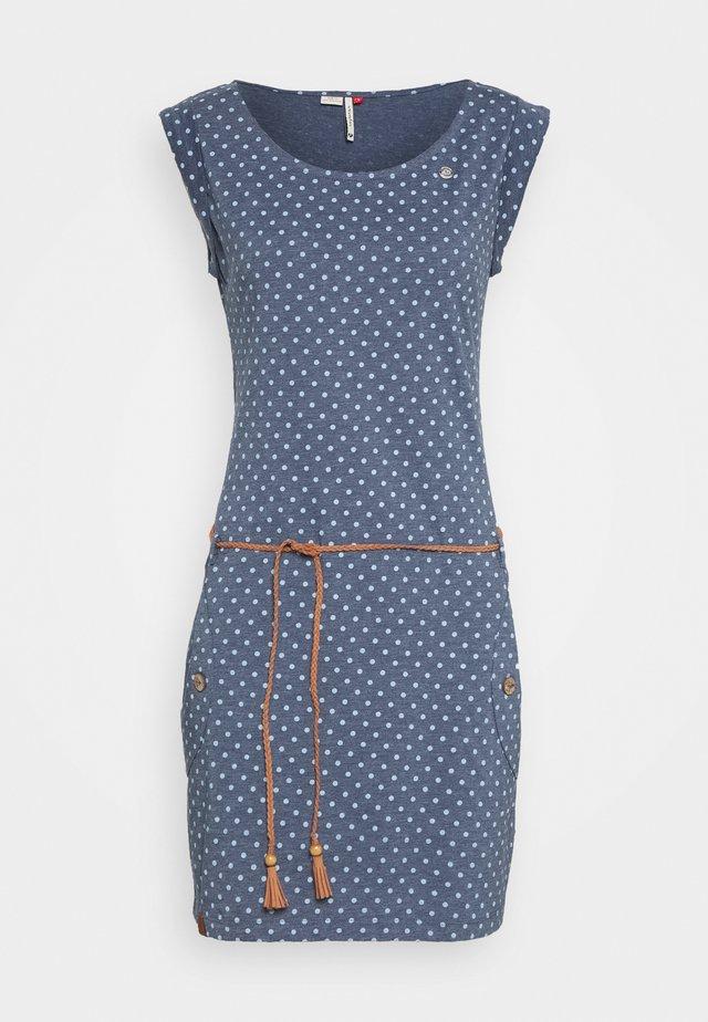 TAG DOTS - Sukienka z dżerseju - denim blue