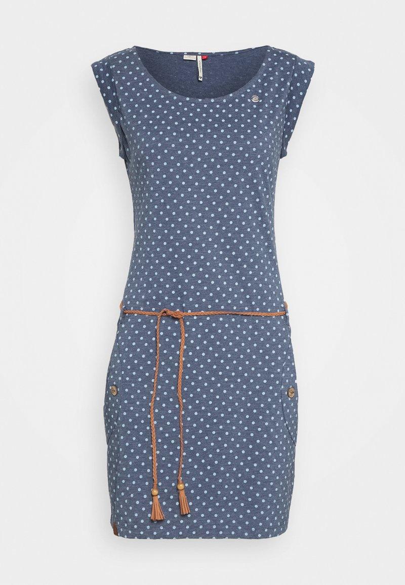 Ragwear - TAG DOTS - Žerzejové šaty - denim blue