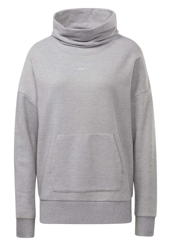 Reebok TRAINING ESSENTIALS COVER-UP - Sweatshirt - grey RahVz