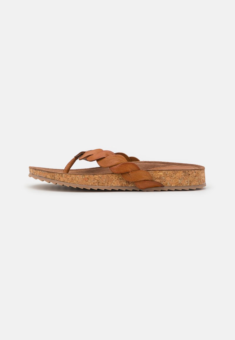 Lazamani - T-bar sandals - tan
