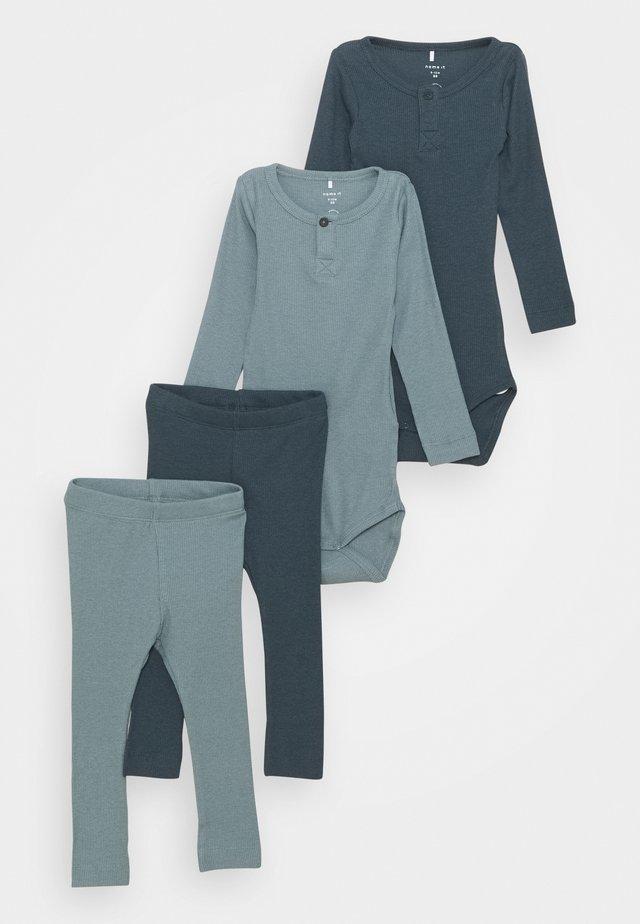 NBMRICHARD 2 PACK SET - Leggings - Trousers - dark slate/lead