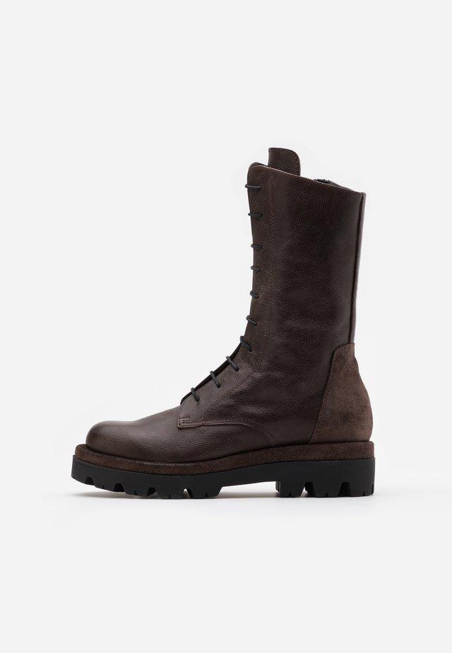 ASTRID - Platåstøvler - twister brown