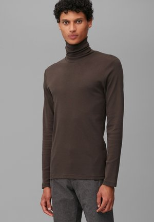 Long sleeved top - chocolate brown