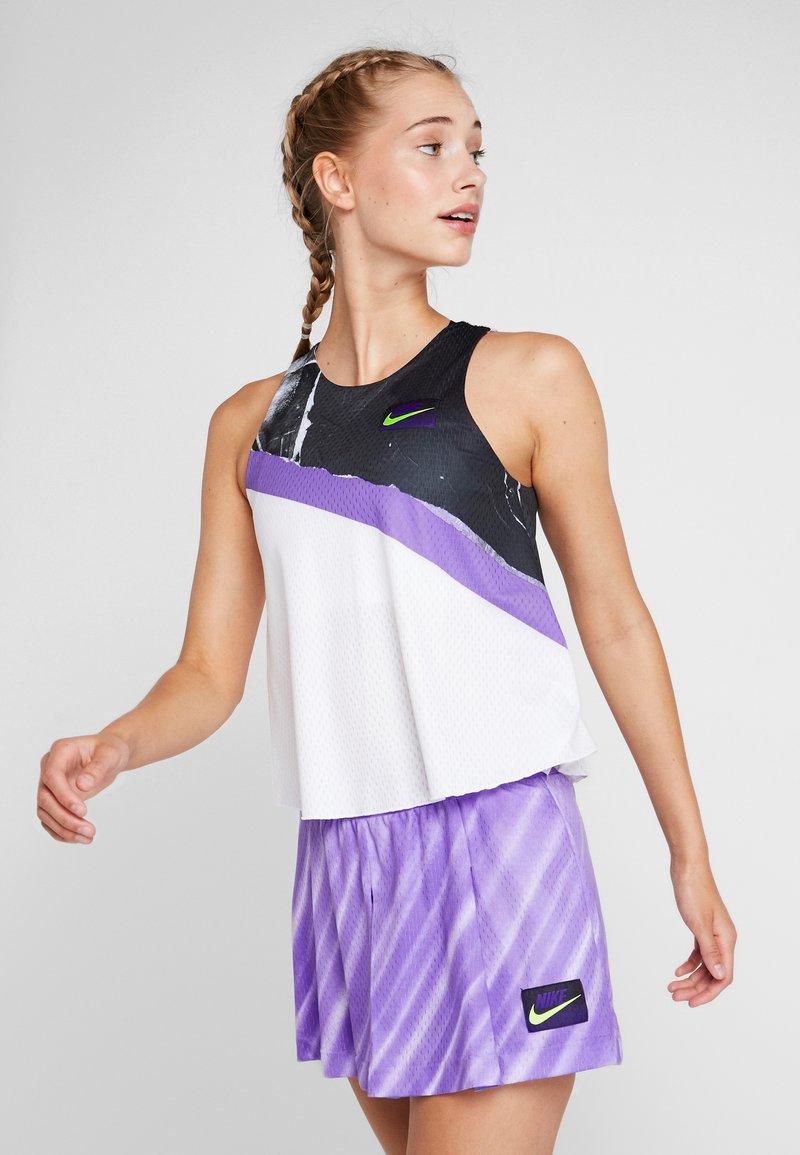Nike Performance - TANK - Funkční triko - white/psychic purple/black/volt