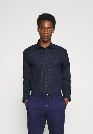 DOT PRINT SLIM - Formal shirt - navy/blue