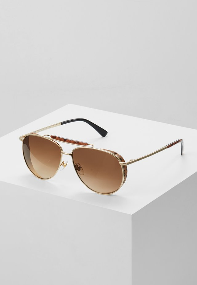 Lunettes de soleil - shiny gold-coloured/brown