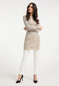 faina - Shift dress - beige - 1