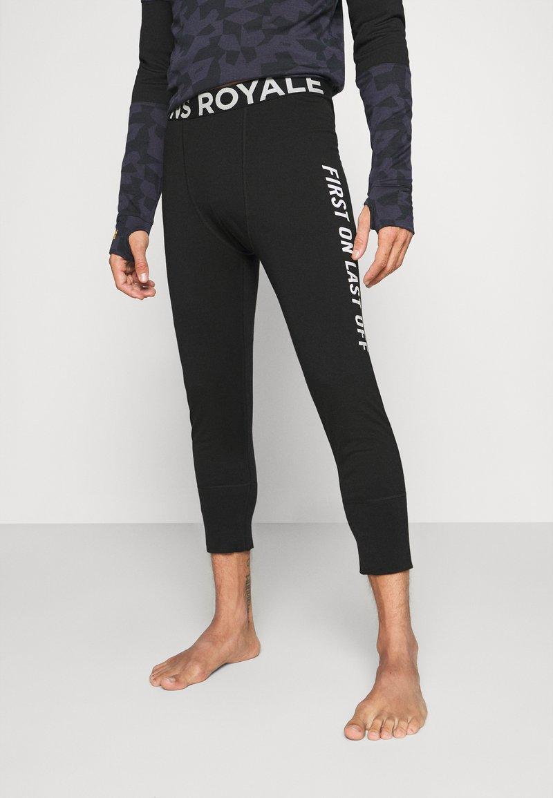 Mons Royale - SHAUN OFF 3/4 LEGGING - Dlouhé spodní prádlo - black