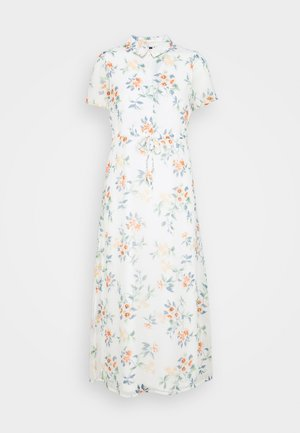 VMKAY ANKLE SHIRT DRESS PETITE - Maxi dress - snow white