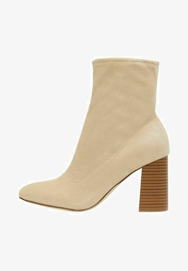 BIAELLIE - Korte laarzen - beige