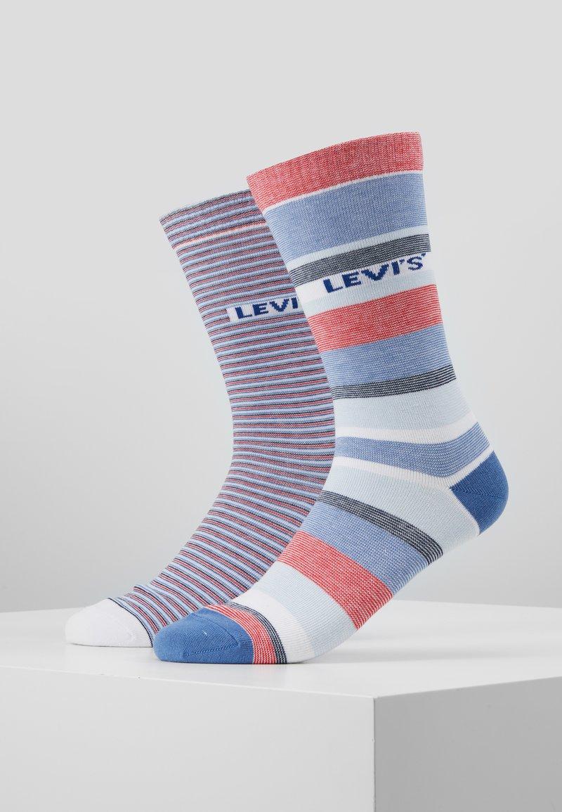 Levi's® - REGULAR CUT STRIPE STORY 2 PACK - Ponožky - white/blue/red