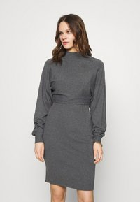 Zign - Shift dress - mottled dark grey - 0