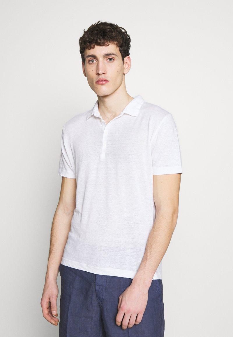 120% Lino - Polo shirt - white solid