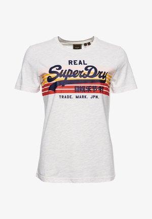 Print T-shirt - mcqueen marl