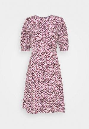CLOSET PUFF SLEEVE A LINE DRESS - Jurk - pink