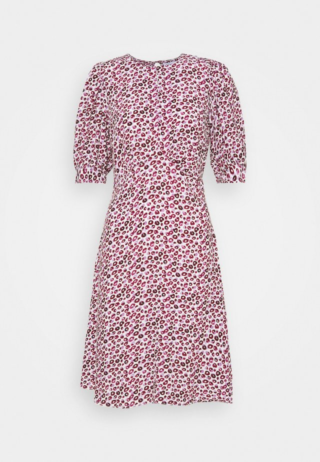 CLOSET PUFF SLEEVE A LINE DRESS - Korte jurk - pink