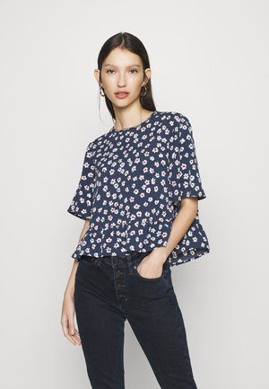 PRINTED PEPLUM - Blouse - twilight navy