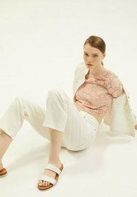 Esprit Collection - LACE SHIRT - Print T-shirt - nude - 8