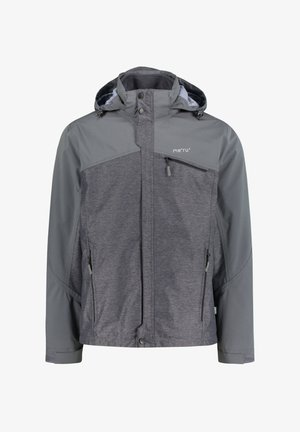 DOUBLE JACKET - Soft shell jacket - anthracite