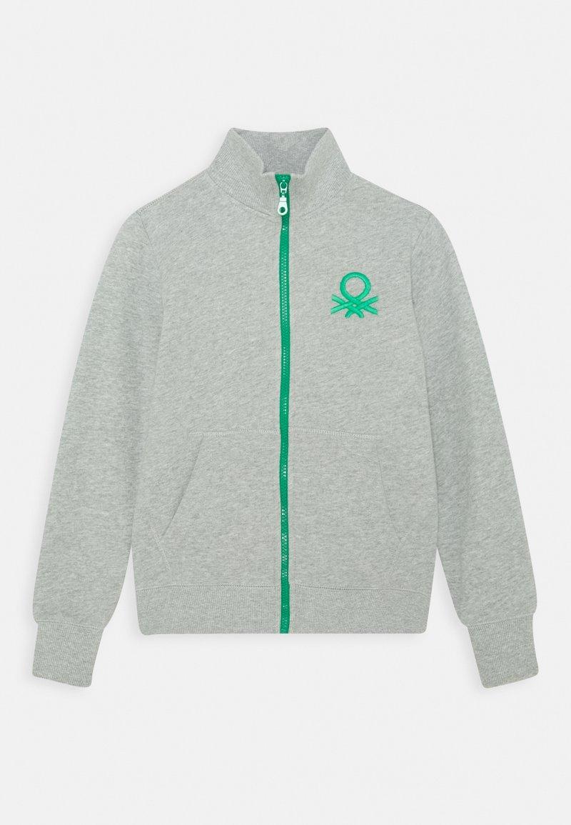 Benetton - Bluza rozpinana - grey