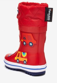 """Next - RED TRANSPORT THINSULATEÂ""""¢ CUFF WELLIES (YOUNGER) - Stivali di gomma - red - 2"""