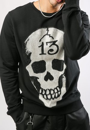 SKULL-13 CREW NECK SWEATSHIRT - Sudadera - black