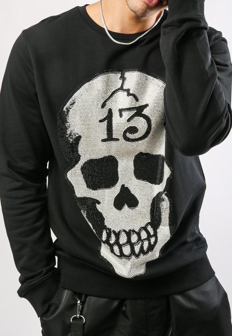 Ed Hardy - SKULL-13 CREW NECK SWEATSHIRT - Sweatshirt - black