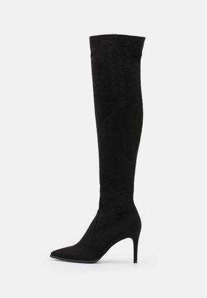 JUELZ - Overknee laarzen - black