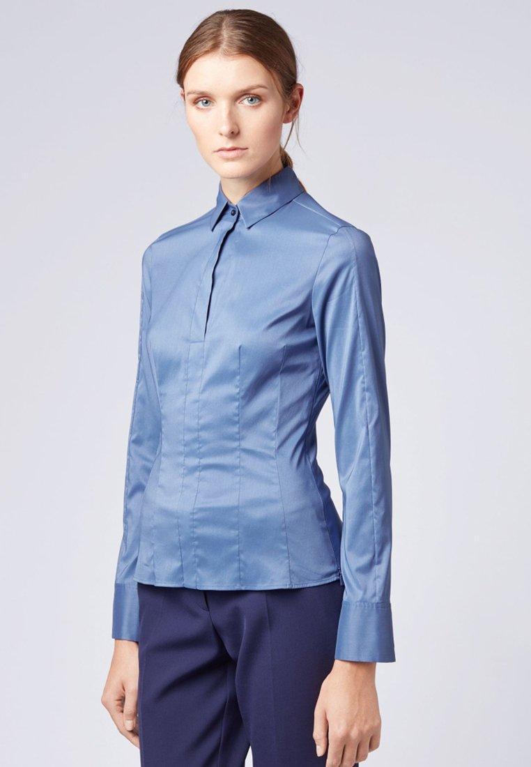 BOSS - BASHINA - Button-down blouse - blue