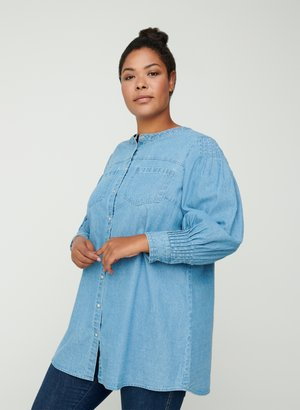 Button-down blouse - blue