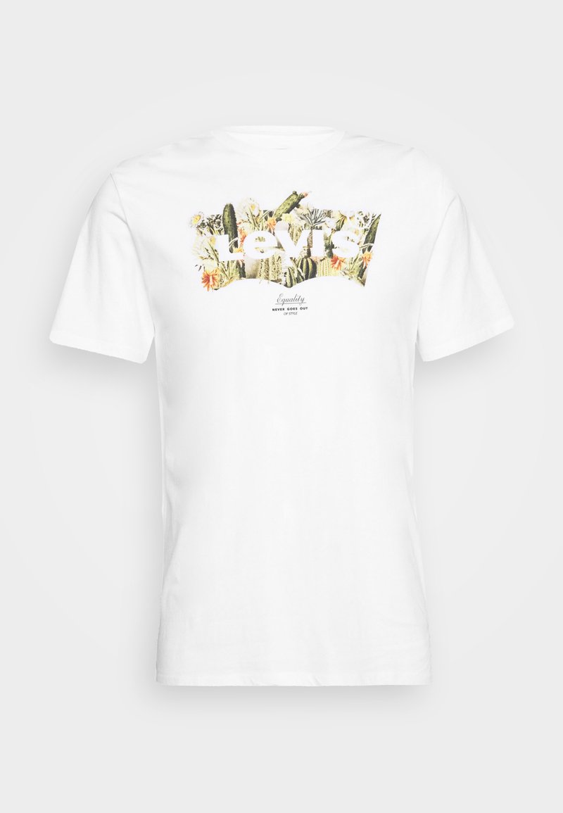 Levi's® HOUSEMARK GRAPHIC TEE - T-Shirt print - outline white/weiß ntpEe2