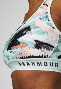 Under Armour - MID CROSSBACK BRA - Sujetador deportivo - seaglass blue - 4