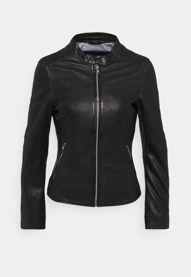 LINA - Leather jacket - black