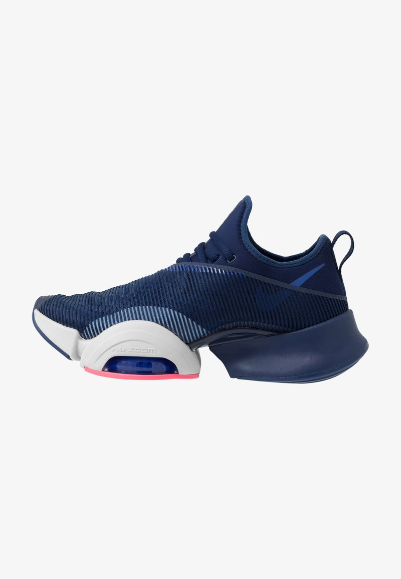 Nike Performance - AIR ZOOM SUPERREP UNISEX - Gym- & träningskor - blue void/black/vast grey/voltage purple