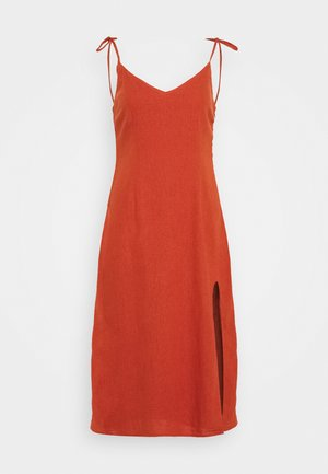 SIDE SLIT MIDI - Day dress - auburn